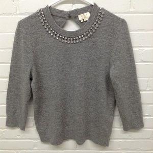 Kate Spade Jeweled Keyhole Sweater Size Medium